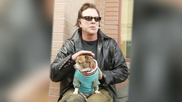 mickey rourke - profile produced segment stock videos & royalty-free footage
