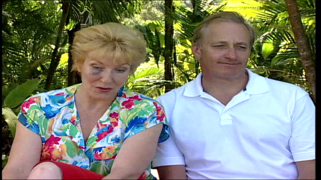 celebrity survivor finale evicted celebrity christine hamilton along with husband neil christine hamilton interview sot talks of her role in the... - fernsehserie stock-videos und b-roll-filmmaterial