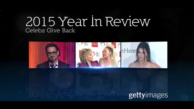 Celebs Give Back 2015 Year In Review