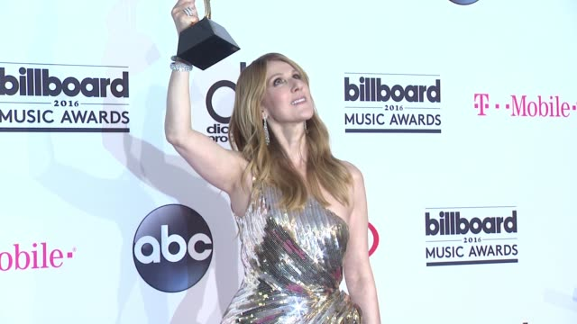 celine dion at 2016 billboard music awards press room at tmobile arena on may 22 2016 in las vegas nevada - céline dion stock videos & royalty-free footage