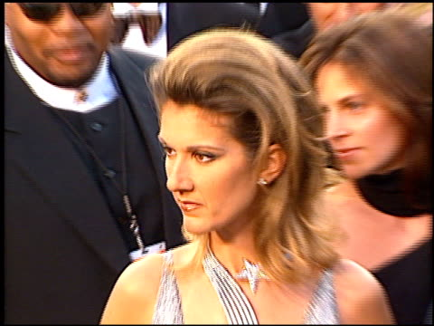 celine dion at the 1997 academy awards arrivals at the shrine auditorium in los angeles california on march 24 1997 - céline dion stock videos & royalty-free footage