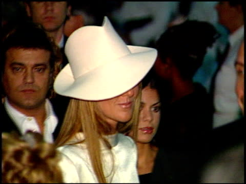 celine dion at the 1999 academy awards governor's ball at the shrine auditorium in los angeles california on march 21 1999 - céline dion stock videos & royalty-free footage