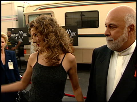 celine dion at the 1999 american music awards entrances at the shrine auditorium in los angeles california on january 11 1999 - céline dion stock videos & royalty-free footage