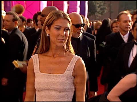 celine dion at the 1999 grammy awards at the shrine auditorium in los angeles california on february 24 1999 - céline dion stock videos & royalty-free footage
