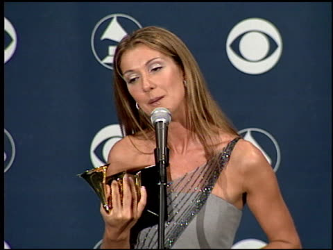 celine dion at the 1999 grammy awards backstage at the shrine auditorium in los angeles california on february 24 1999 - céline dion stock videos & royalty-free footage