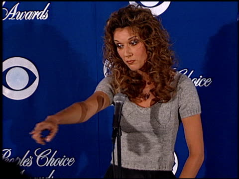 celine dion at the 1999 people's choice awards at the pasadena civic auditorium in pasadena california on january 10 1999 - céline dion stock videos & royalty-free footage