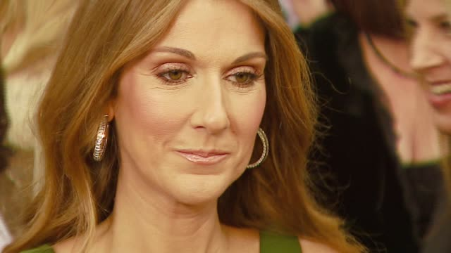 celine dion at the 2007 academy awards arrivals at the kodak theatre in hollywood california on february 25 2007 - céline dion stock videos & royalty-free footage