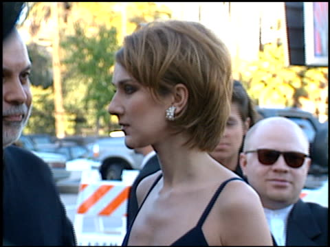 celine dion at the blockbuster awards at pantages theater in hollywood california on march 6 1996 - 1996年点の映像素材/bロール