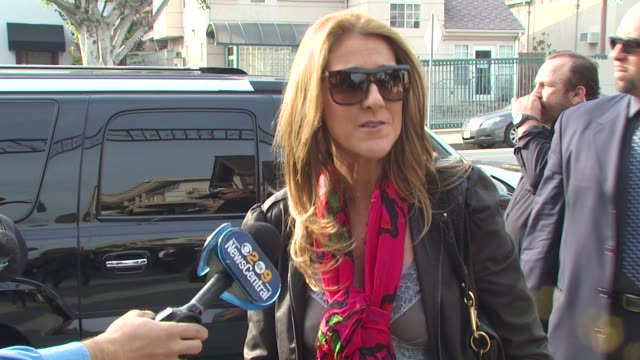 celine dion at the we are the world 25th anniversary recording for haitian earthquake relief at los angeles ca - 25th anniversary stock videos and b-roll footage