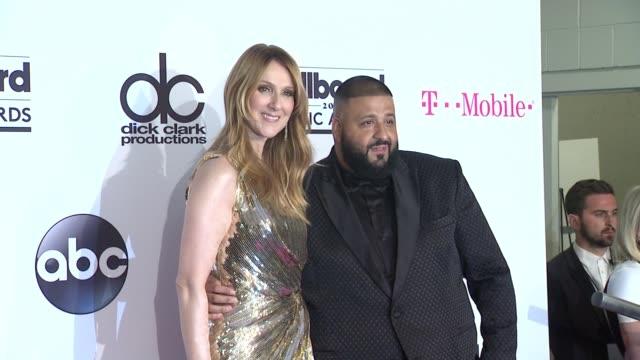 celine dion, dj khaled at 2016 billboard music awards - press room at t-mobile arena on may 22, 2016 in las vegas, nevada. - セリーヌ・ディオン点の映像素材/bロール