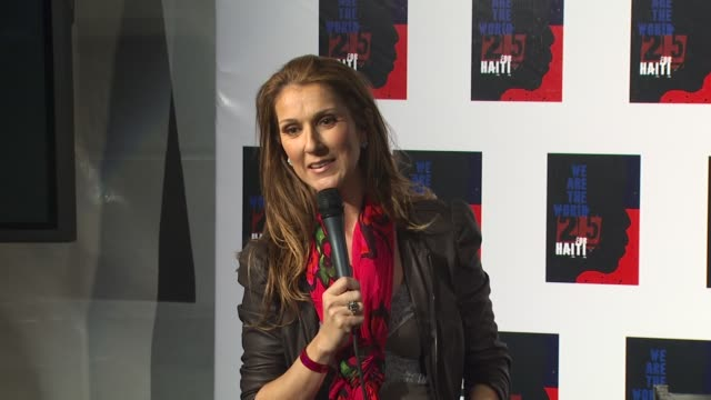 celine dion on being a part of the we are the world 25th anniversary recording for haitian earthquake relief at the we are the world 25th anniversary... - céline dion stock videos & royalty-free footage