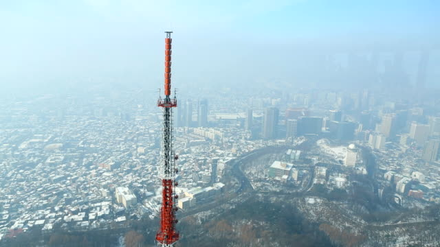 cell phone and  broadcast tower - repeater tower stock videos and b-roll footage