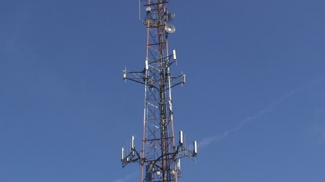 cell phone & broadcast tower - microwave tower stock videos and b-roll footage
