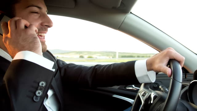 cell phone driving - tuxedo stock videos & royalty-free footage