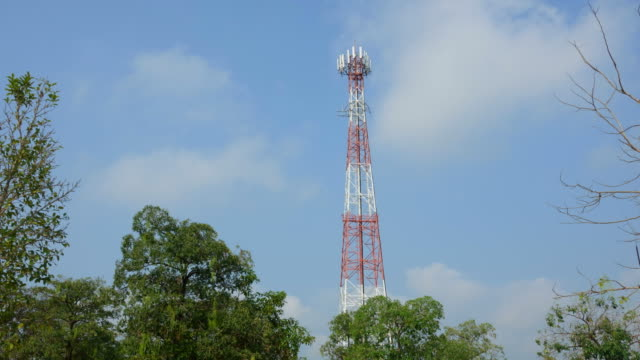 cell phone tower time-lapse - telegraph pole stock videos & royalty-free footage