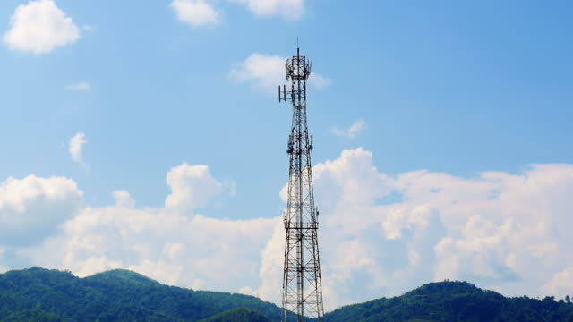cell phone tower - telephone pole stock videos & royalty-free footage