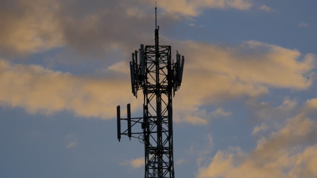 cell phone tower - mast stock videos & royalty-free footage