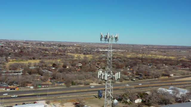 cell tower in small town - bandwidth stock videos & royalty-free footage