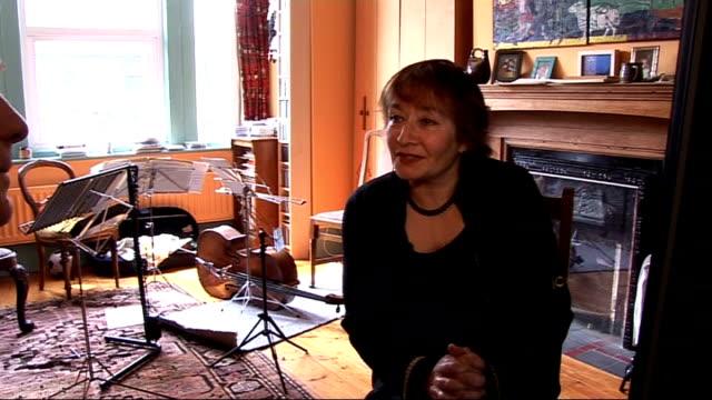 cellist mstislav rostropovich dies aged 80 england karine georgian interview sot - cellist stock videos & royalty-free footage