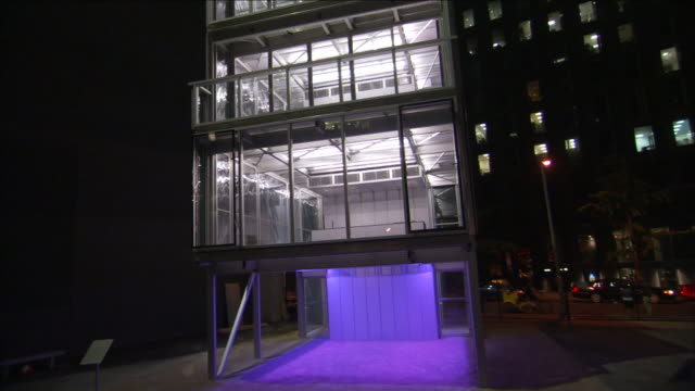 cellophane covers the exterior of a multistory building. - cellophane stock videos & royalty-free footage