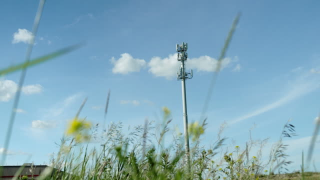 cellular telecom tower - microwave tower stock videos & royalty-free footage