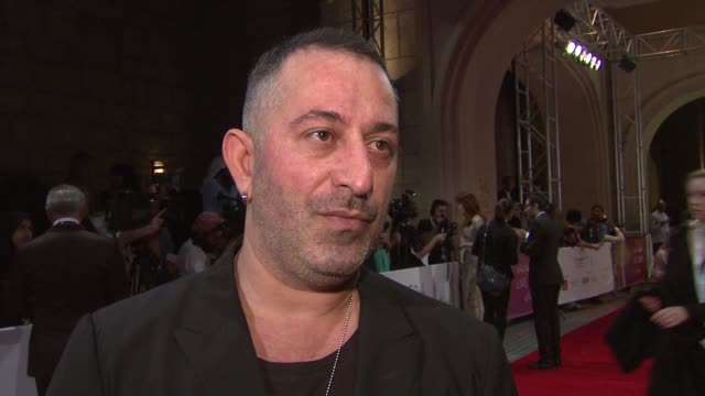 interview cem yilmaz on the premiere in turkey movie festivals and russell crowe at 'the water diviner' red carpet 11th annual dubai international... - russell crowe stock videos & royalty-free footage