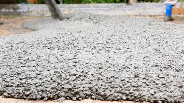 El vertido de cemento