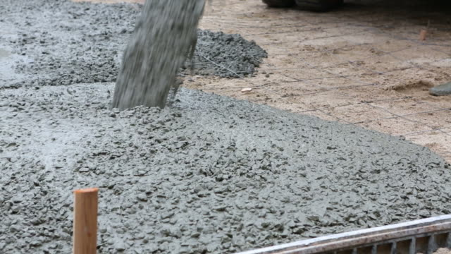 cement pouring - concrete stock videos & royalty-free footage