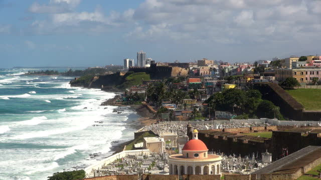 cementerio santa maría magdalena - san juan, puerto rico - puerto rico stock videos & royalty-free footage