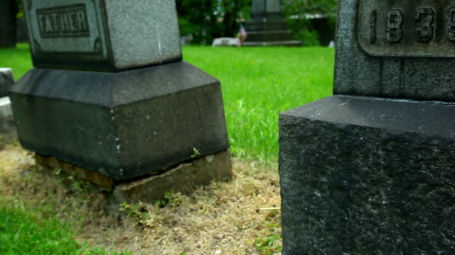 cementery gravestones - gravestone stock videos & royalty-free footage