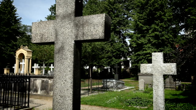 cemetary and tombstones - funeral stock videos & royalty-free footage