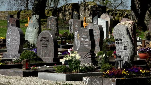 Cemetery at Nunkirche near Sargenroth, Hunsrueck, Rhineland-Palatinate, Germany