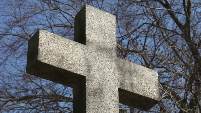 cemetery cross - close up - tombstone stock videos and b-roll footage