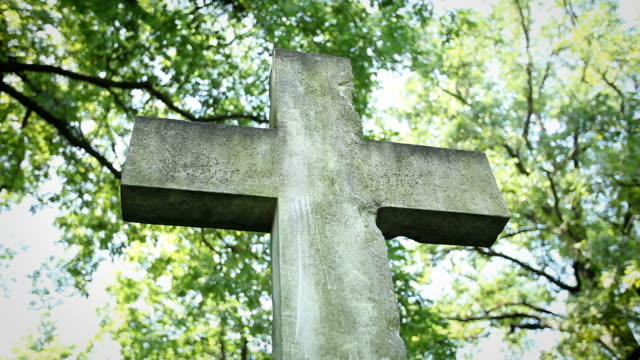 cemetery cross - close up