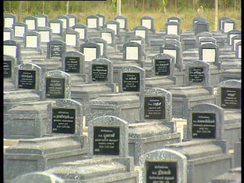 cemetery in colombo during the sri lankan civil war. - civil war stock videos & royalty-free footage