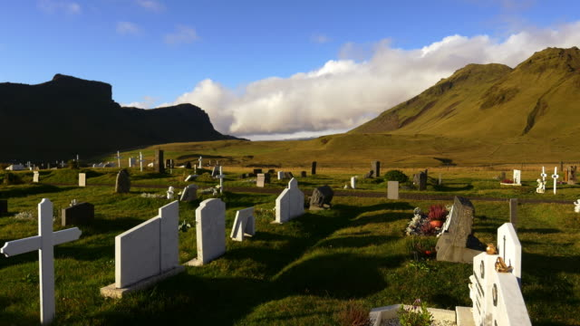 cemetery in iceland - tombstone stock videos and b-roll footage