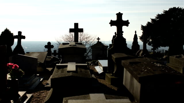 cemetery in normandie - gravestone stock videos & royalty-free footage