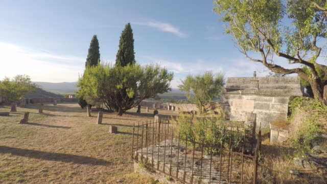 cemetery in provence - luberon stock videos & royalty-free footage