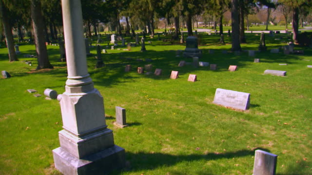 Cemetery monuments and grave stones