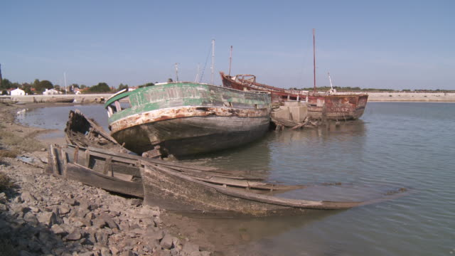 cemetery of boats noirmoutier - cemetery stock videos and b-roll footage
