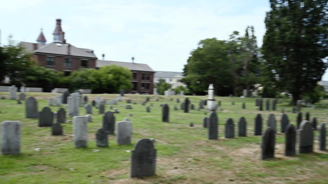 cemetery, salem massachusetts, usa - salem massachusetts stock videos & royalty-free footage