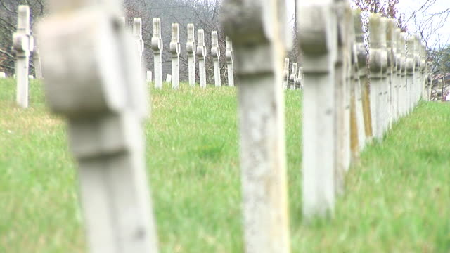 hd: cemetery - world war i stock videos and b-roll footage