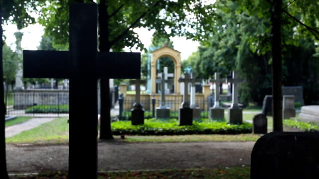 cemetery - funeral stock videos & royalty-free footage