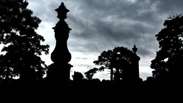 cemetery_clouds_hd - cemetery stock videos & royalty-free footage