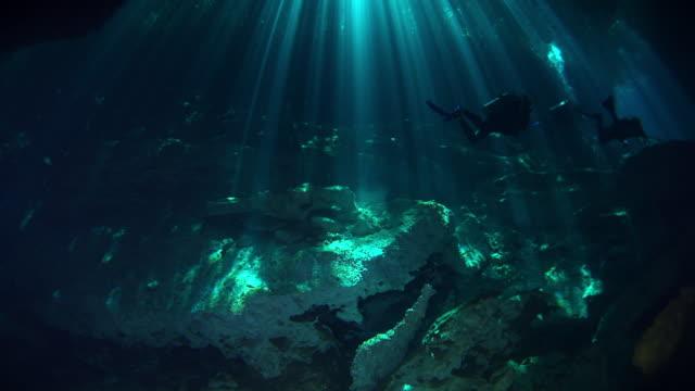 vídeos y material grabado en eventos de stock de cenotes - formación de roca