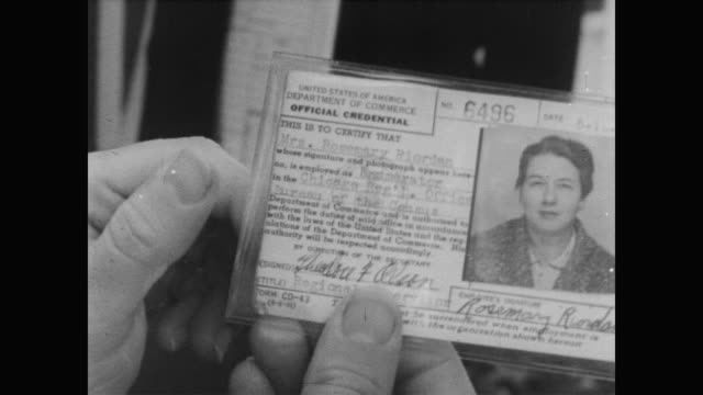 1960 a census woman's business card from the u.s. department of commerce - census stock videos & royalty-free footage