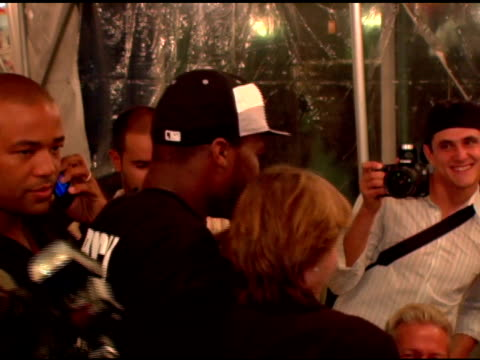 50 cent and fans at the 4th annual tikva drive for life to benefit odessa's orphaned and abandoned children presented by ecko unltd at chelsea piers... - chelsea piers stock videos & royalty-free footage