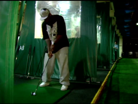 50 cent golfing at the 4th annual tikva drive for life to benefit odessa's orphaned and abandoned children presented by ecko unltd at chelsea piers... - chelsea piers stock videos & royalty-free footage