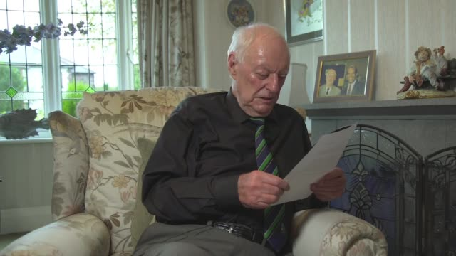 Letters from the front lines ENGLAND INT Peter Massen reading letter SOT