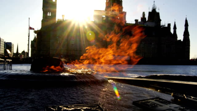 centennial flame  in ottawa, canada - ottawa stock videos & royalty-free footage